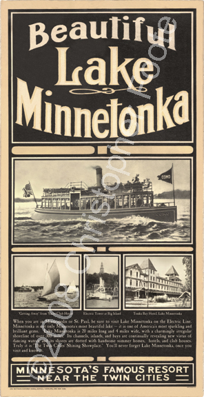 Beautiful Lake Minnetonka, Minnesota, Poster Art