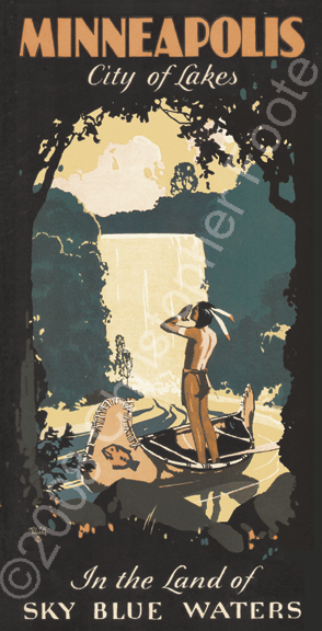 Minnehaha Falls, Minneapolis, Minnesota Poster Art