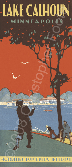 Lake Calhoun, Minneapolis, Minnesota Poster Art