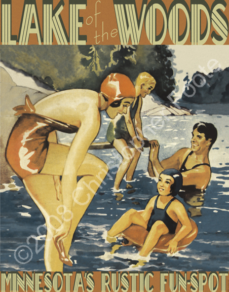 Lake of the Woods, Minnesota Poster Art
