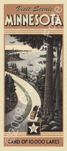 Minnesota North Shore Art Poster