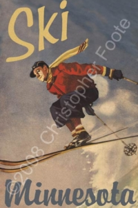 Ski Minnesota Travel Poster Art