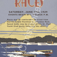 Saint Paul, Minnesota, Boat Races Poster Art