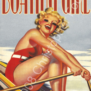 Gentlemen Can't Resist a Boating Girl Poster Art