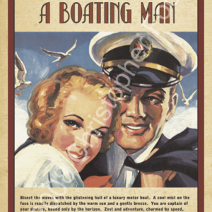 Ladies Can't Resist a Boating Man, Yachting Humor Poster Art