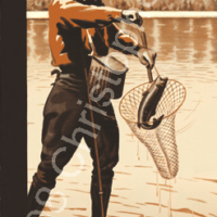 Saint Croix River Fishing, Minnesota Poster Art