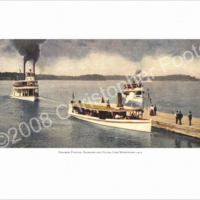 Lake Minnetonka, Minnesota, Steamboats Poster Art