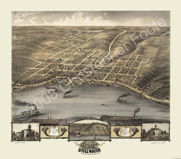 Stillwater, Minnesota Map Poster Art