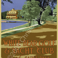 White Bear Lake Golf and Yacht Club, Minnesota Poster Art
